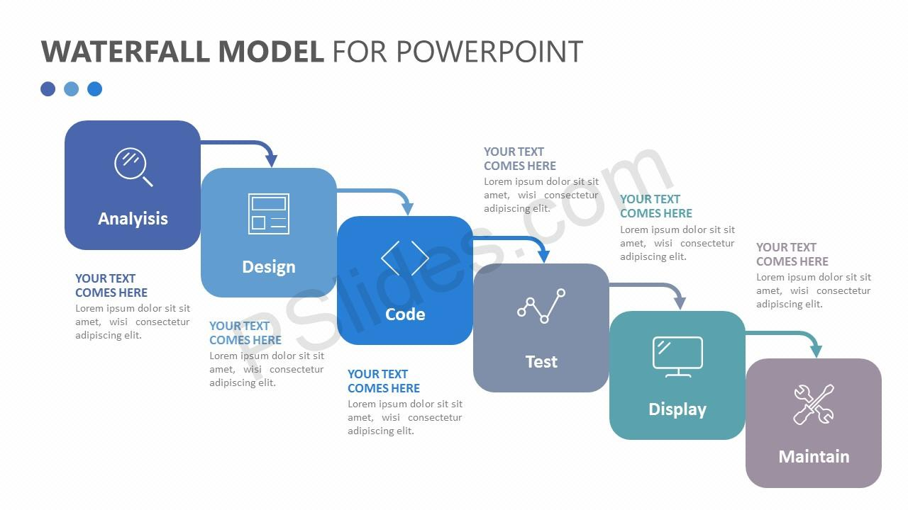 hight resolution of waterfall model for powerpoint slide 1
