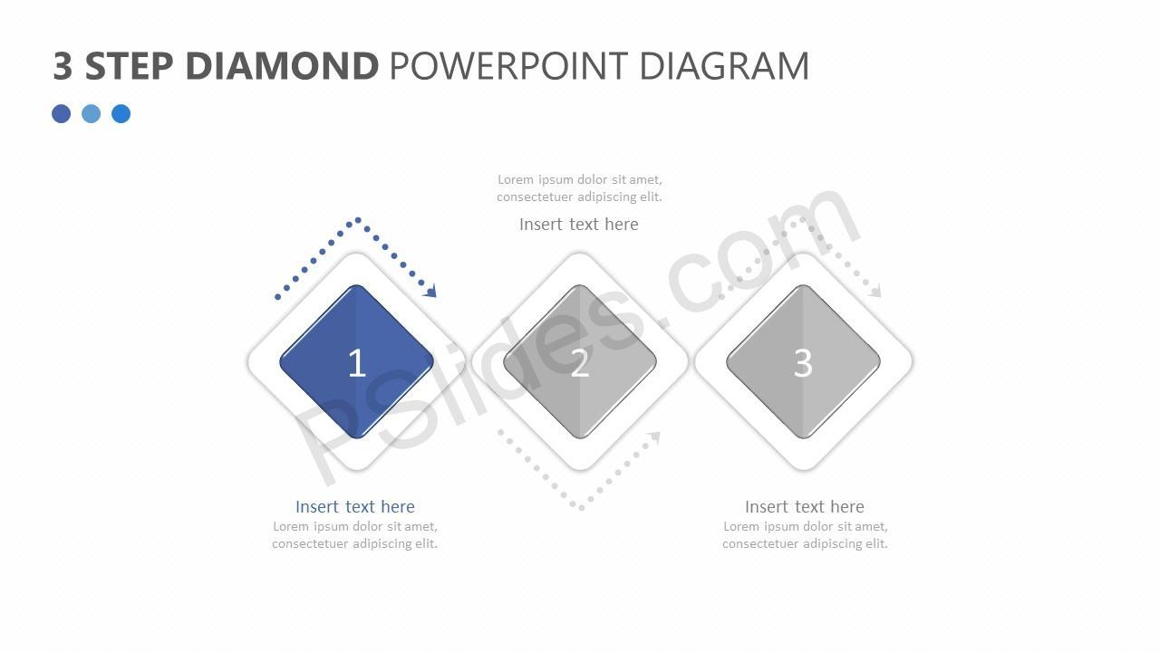 hight resolution of  3 step diamond powerpoint diagram slide 2