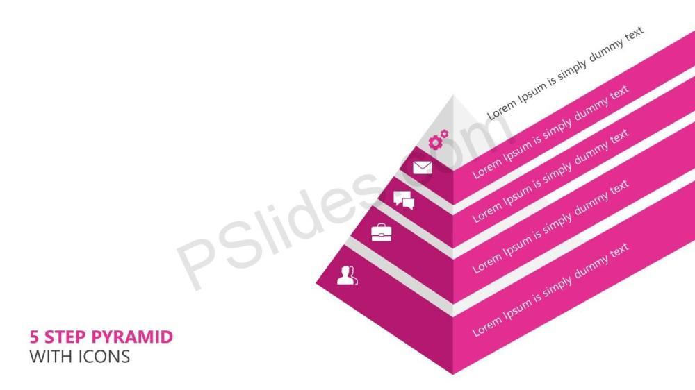 medium resolution of 5 step pyramid with icons slide1