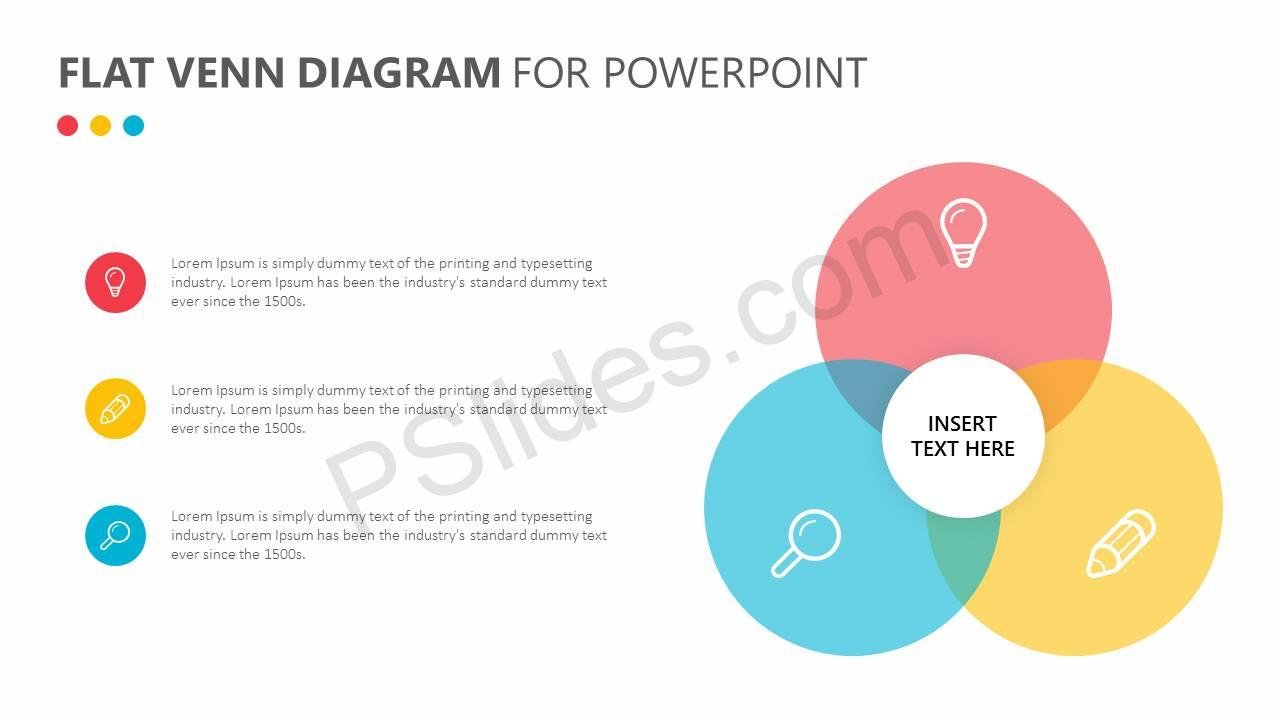 hight resolution of  flat venn diagram for powerpoint slide2