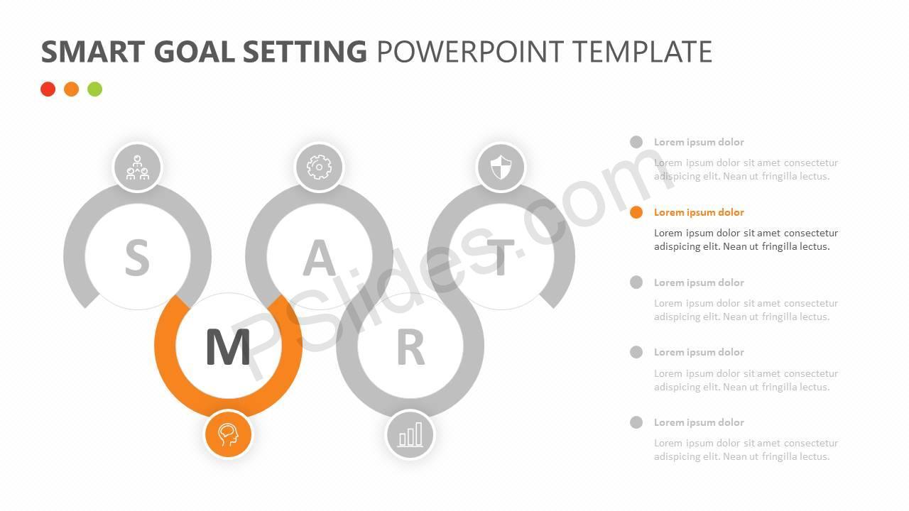 SMART Goal Setting PowerPoint Diagram