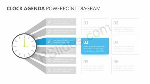 small resolution of  clock agenda powerpoint diagram slide2