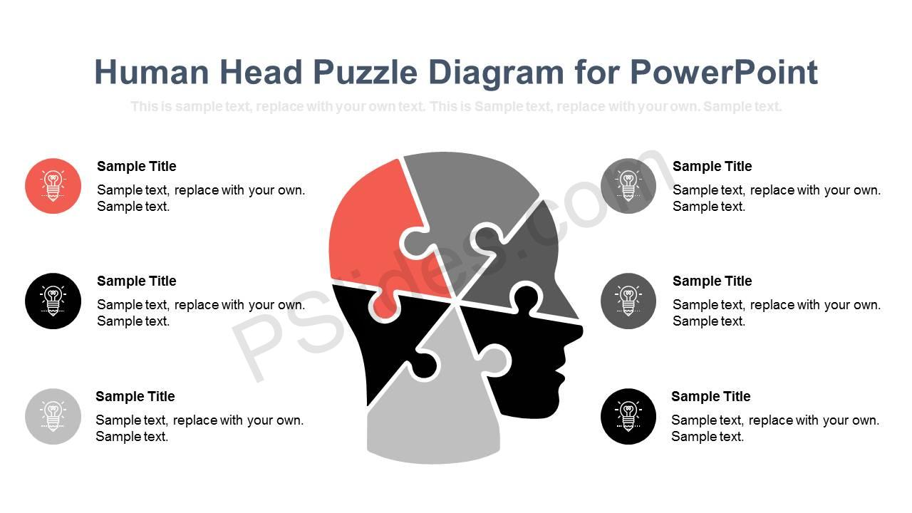 hight resolution of human head puzzle diagram for powerpoint slide1