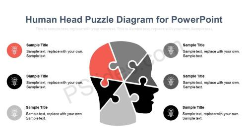 small resolution of human head puzzle diagram for powerpoint slide1