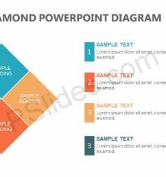 4 stage diamond powerpoint diagram slide1 [ 1280 x 720 Pixel ]