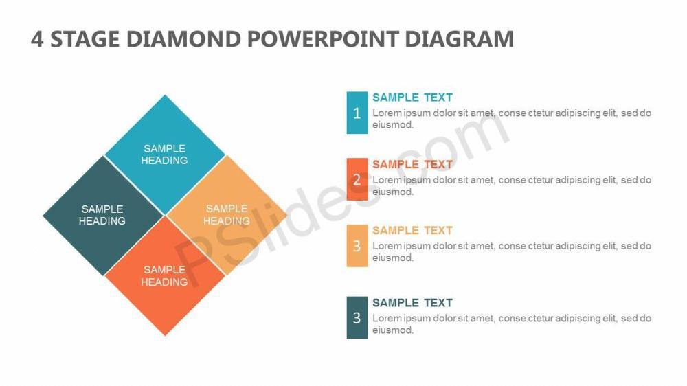 medium resolution of 4 stage diamond powerpoint diagram slide1