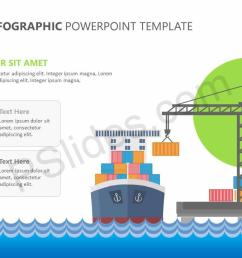 cargo ship infographic powerpoint template slide2  [ 1280 x 720 Pixel ]