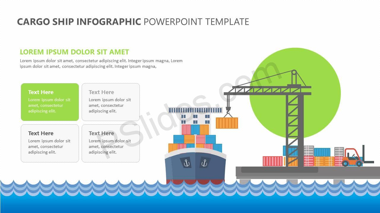 hight resolution of  cargo ship infographic powerpoint template slide2