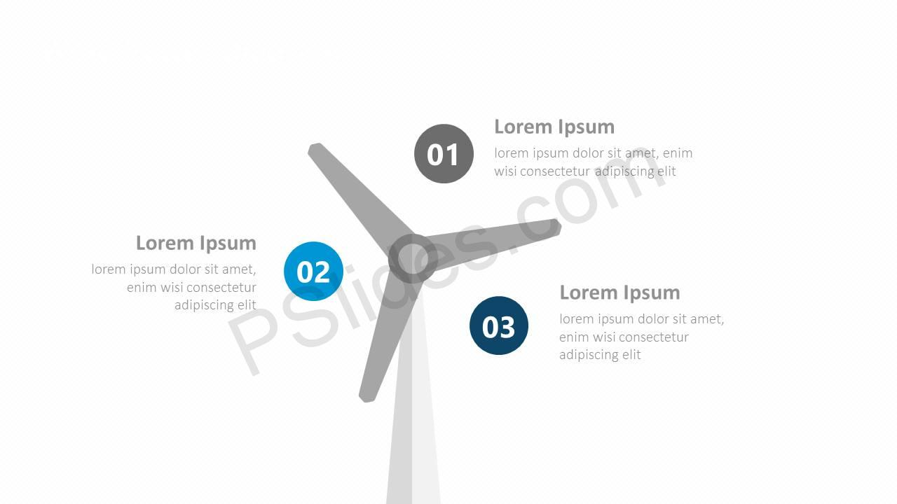 Wind Power Diagram for PowerPoint