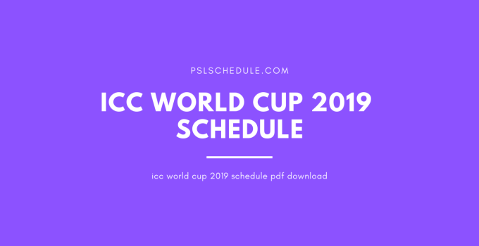 icc world cup 2019 schedule pdf