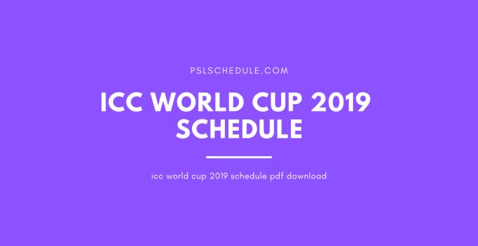 icc world cup 2019 schedule pdf