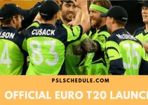 Euro T20 Slam Launch in Dublin