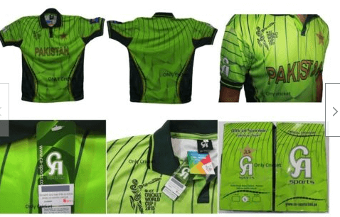 Pakistan cricket shirt world cup 2019