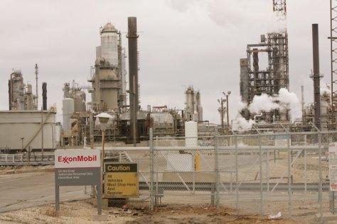The ExxonMobil refinery in Joliet, Illinois.