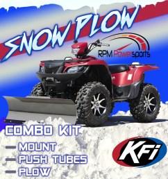 details about kfi atv 54 snow plow kit combo yamaha grizzly 660 700 2002 2018 [ 1600 x 1600 Pixel ]