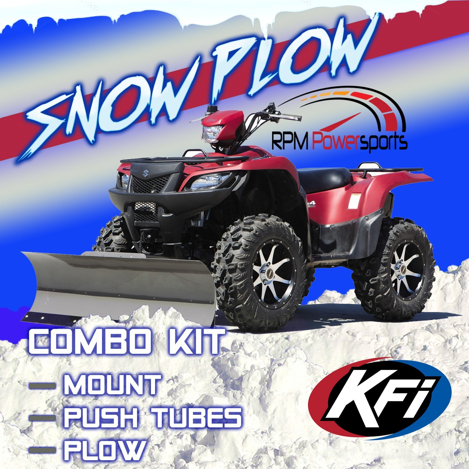 hight resolution of details about kfi atv 54 snow plow kit combo yamaha grizzly 660 700 2002 2018