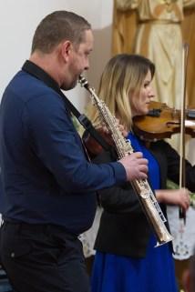Adam Szul - saksofon, Milena Dobrzycka - skrzypce fot. Paweł Mieszczakowski