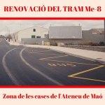 Renovació del tram Me-8 zona Cases de l'Ateneu de Maó PSOE Maó
