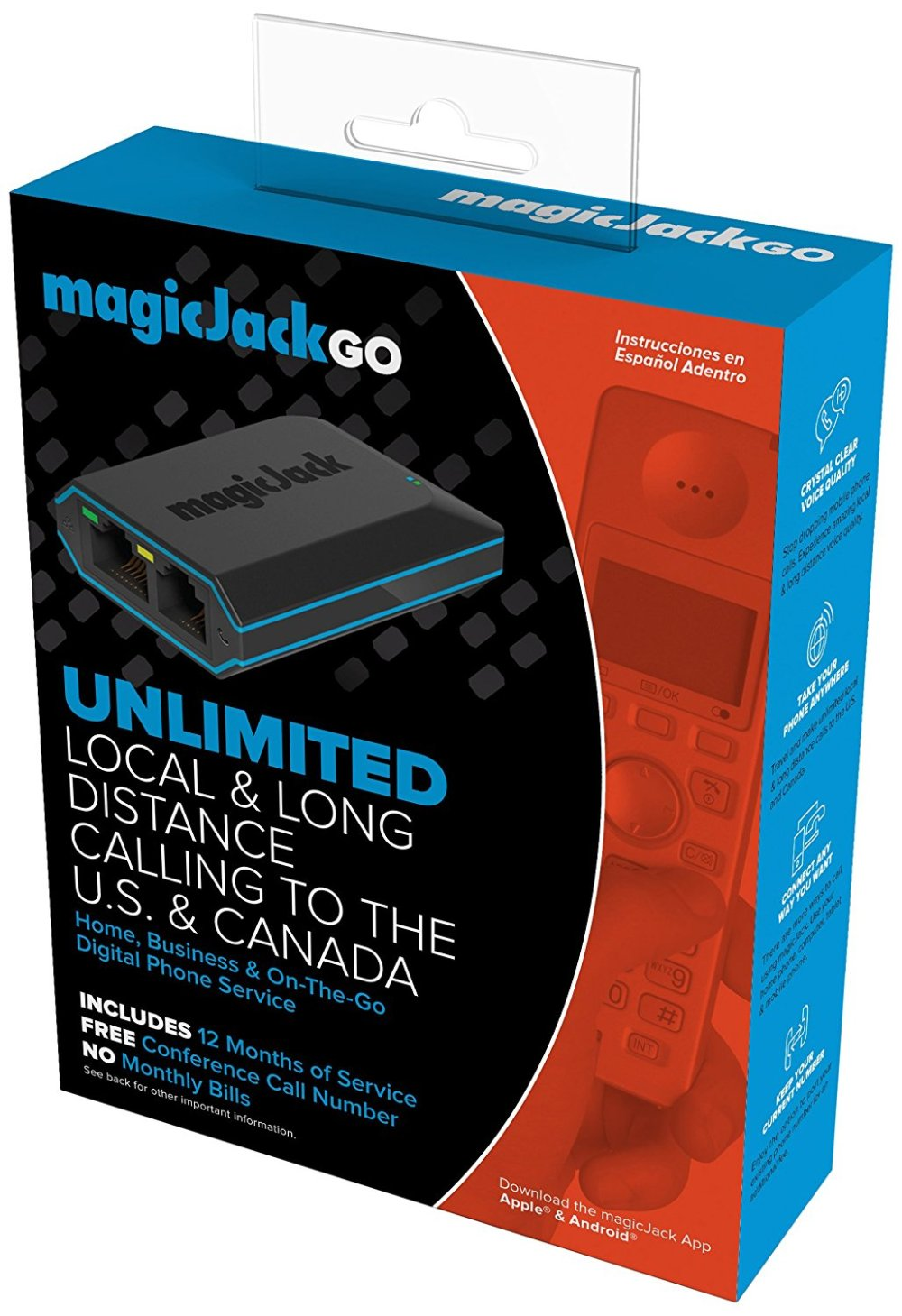 medium resolution of details about magicjack go digital phone service includes 12 months of free service new
