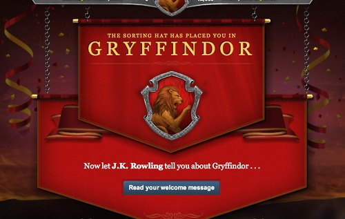Gryffindor Welcome Message Pottermore Spoilers