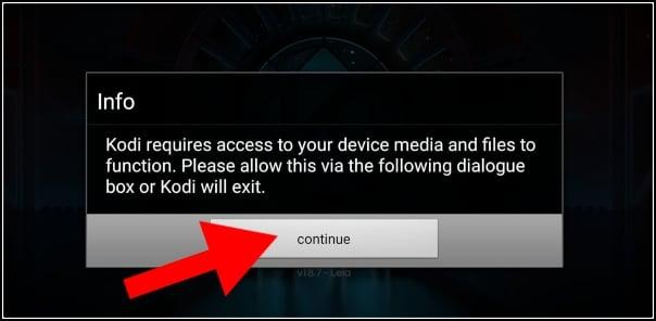 acceso multimedia en Kodi