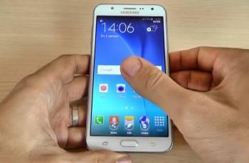 hacer captura de pantalla en el Galaxy J5