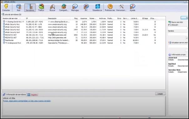 añadir servidores eMule