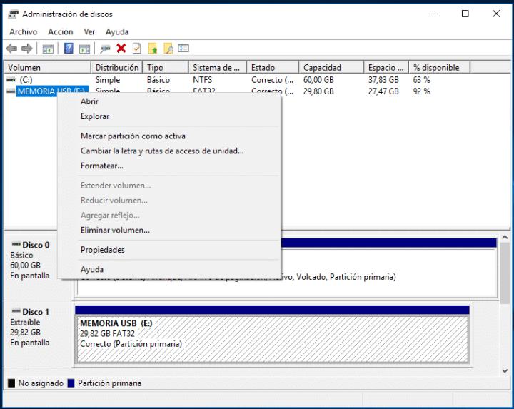 Formatear MicroSD