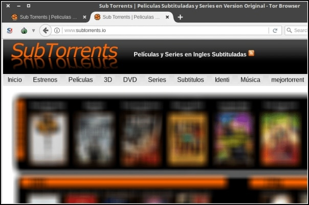 SubTorrents en Tor Browser