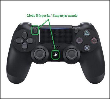 modo búsqueda y emparejar mando PS4