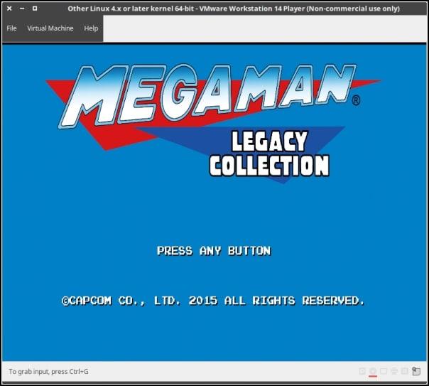 Megaman Legacy Collection para PS4 funcionando