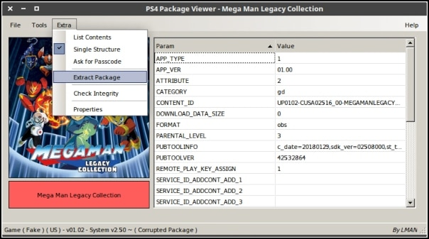 PS4 Package Viewer