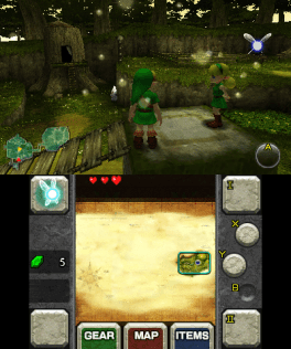 Mikage ejecutando Zelda: Ocarina of Time 3D