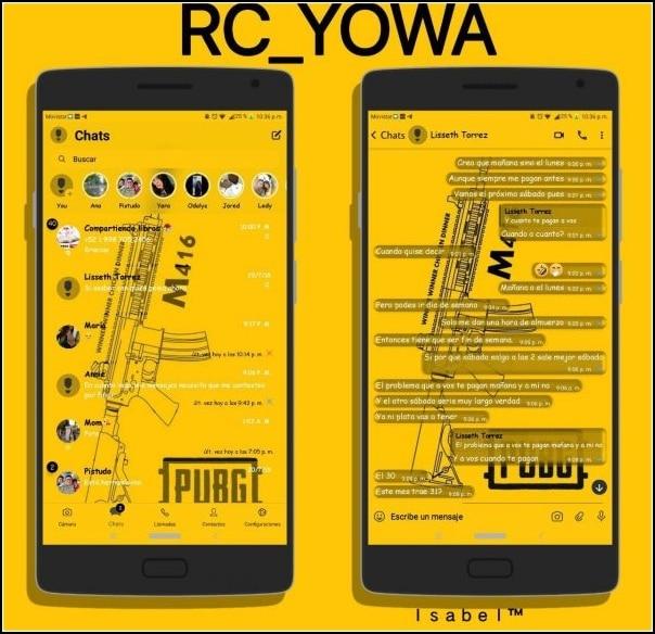 tema PUBG Mobile para YoWhatsApp