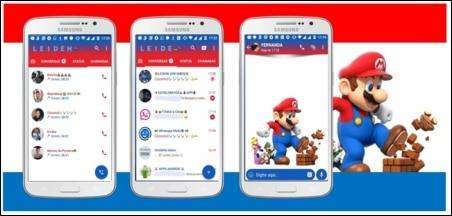 tema Super Mario para GBWhatsApp