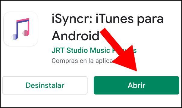 abrir iSyncr