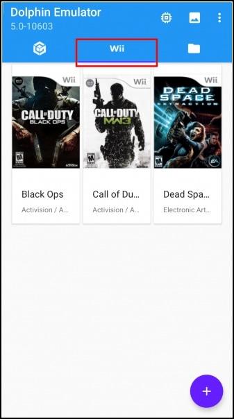 carga carátulas isos Wii en Dolphin para Android