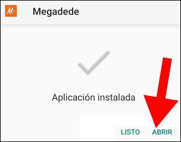abrir Megadede para Android