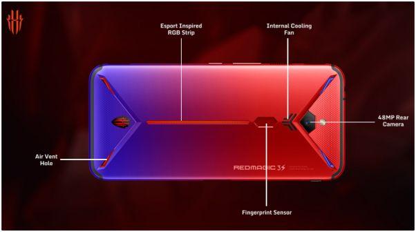 Nubia Red Magic 3S, parte trasera