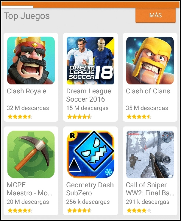 top juegos