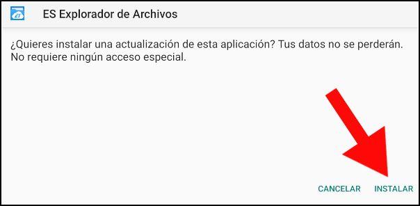 instalar ES File Explorer