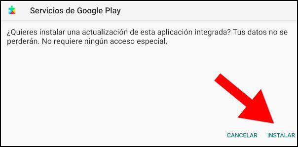 instalar Servicios de Google Play