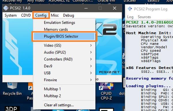 configurar bios PCSX2