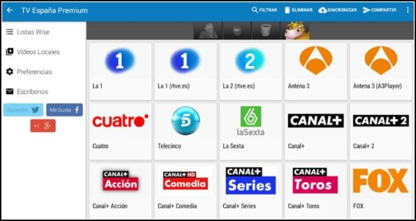 TV de pago en Wiseplay