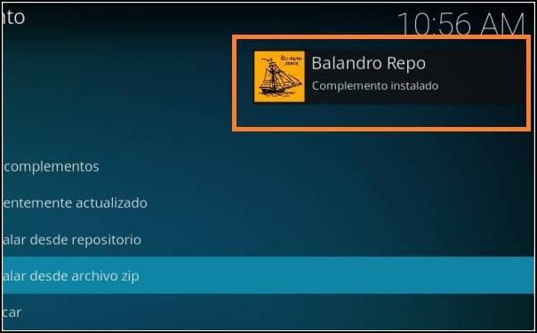 complemento Balandro instalado