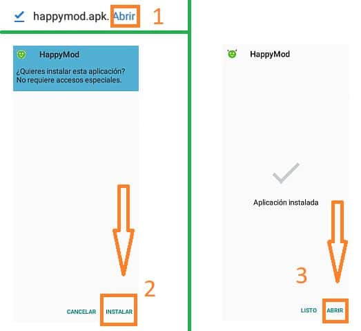 instalar happymod