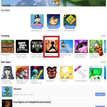 Descargar un juego desde la app de APPVN para Android