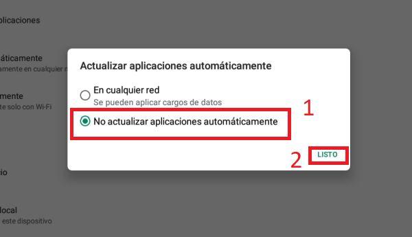 Play Store desactivar actualizaciones automáticas 4
