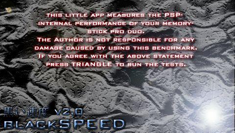 BlackSpeed verificar velocidad memoria PSP