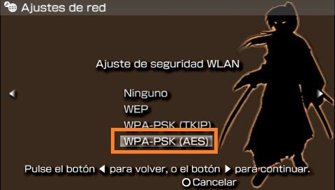 PSP seguridad wifi